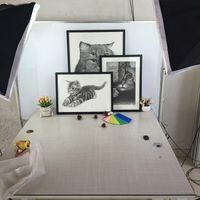 ingrosso display a parete in acrilico-Cornici per foto da regalo Cornici per foto da parete con cornici per esposizione da tavolo in legno massello e diffusore in acrilico ad alta definizione