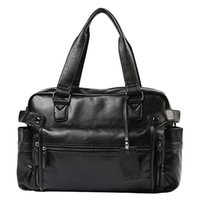 Wholesale multifunction leather shoulder bag for sale - Group buy ABZC Men S Briefcase Messenger Shoulder Bags Large Capacity Handbag Business Leather Computer Bags Laptop Multifunction