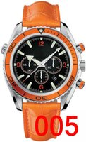 orange leder uhren großhandel-A-2813 Leather Luxury Mechanical Herren Automatikuhr Herrenuhr Edelstahl Automatikuhren Armbanduhren