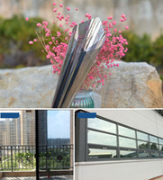 Wholesale self adhesive film for glass resale online - 70 cm Mirror Insulation Solar Tint Window Film Stickers Uv Reflective One Way Privacy Decoration For Glass T190704