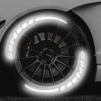 englische dekoration stil großhandel-Universal Auto Reifenprofil 3D Brief Reflektierende Aufkleber Motorrad Aufkleber A-Z Englisch Brief Styling DIY Dekoration Aufkleber