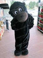 trajes de macaco para adultos venda por atacado-Halloween Black gorilla Monkey Mascot Costume orangotango Animal Anime personagem do tema do Natal do Carnaval Do Partido Do Vestido Extravagante Adulto Outfit