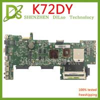 dizüstü bilgisayar test edildi toptan satış-Asus K72DR Için KEFU K72DY anakart X72D K72DY K72DE A72D K72DR K72D laptop anakart REV 8 bellek PM Testi çalışmaları 100%