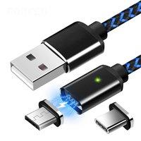 ingrosso sony lampeggia-Cellulare ricarica linea dati USB magnete tipo-c Android forte carica flash magnetico linea di ricarica rapida tre in uno