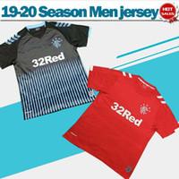 рейнджеры оптовых-2020 Rangers F.C away черные футбольные майки 19/20 Glasgow Rangers Soccer Shirts Индивидуальные третьи красные формы футбольного клуба Размер продаж S-2XL