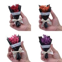 Wholesale photos bouquet for sale - Group buy Bowknot Packed Creative Artificial Flower Photo Props Delicate Mini Bouquet Valentine Day Dried Flowers For Girlfriend xf Ww
