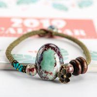Wholesale china stone bracelets resale online - China Ceramics Stone Bracelets Original Luck Boho Ceramic jewelry for women drop shipping