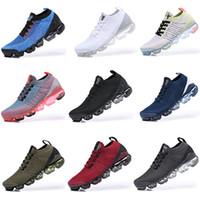 koşu için en iyi koşu ayakkabıları toptan satış-Nike Air Vapormax 2019 Flyknit 2.0 running shoes Koşu Ayakkabıları erkek 2 S Ayakkabı Nefes Siyah beyaz Spor Şok Emilimi Koşu Yürüyüş Yürüyüş ayakkabı EUR 36-45
