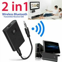 Wholesale 2019 New Bluetooth Transmitter and Receiver in Wireless Audio Aux mm Adapter Car Bluetooth Transmitter and Receiver in