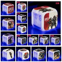 Wholesale multi alarms for sale - Group buy 53styles Apex Legends digital Alarm clock square cartoon Colorful LED Night light for Baby room Lamps decor cm FFA1716