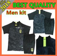 chinesische kits großhandel-Männer Kinder Kit 2018/19 Chinesischer schwarzer Drachen Fußball Jersey schwarzer Fußball Jersey der Porzellan-Nationalmannschaft schwarzen Drachen nationale Fußball-Uniform