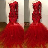 Wholesale african prom dresses for sale - Group buy Trendy Mermaid One Shoulder Evening Dresses Beads Flower Plus Size African Prom Juniors Gowns Formal Pageant Party Dress Vestido de noche