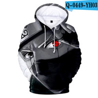 anime kleidung für jungen großhandel-Naruto Hoodie Kids Moletons Ninja Streetwear 3D Kleidung Jungen Kleidung Sweatshirts Männer Naruto Kleidung Anime Hoodie Kakaxi