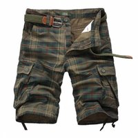 Wholesale men s work clothing for sale - Plaid Men Casual Shorts Men s Camouflage Camo Cargo Shorts Mens Casual Clothing Male Loose Work Man Short