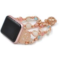 ingrosso notte unica-Cinturino per gioielli Compatibile con cinturino Apple Watch 42mm 44mm Cinturino da polso per perla luminoso notturno fatto a mano unico per serie iWatch 4 3 2 1