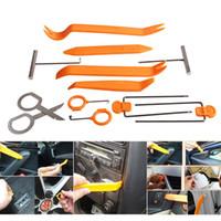 Wholesale car tools plastic resale online - 12Pcs Plastic Car Radio Removal Tool Set Portable Auto Door Clip Panel Trim Dash Audio Pry Repair Diagnostic Tools