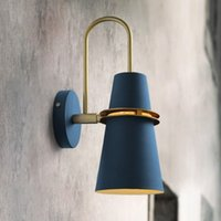 Wholesale mirrored bedside lamps for sale - Group buy Nordic mirror headlights postmodern luxury simple personality creative corridor balcony living room bedroom bedside horn wall lamp