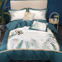 Wholesale bedding fashion bedsheet resale online - Pure Cotton Bedding Set Fashion Bedding Article m Bedsheet Blackish Green Quilt Cover Hotsale Home Textile