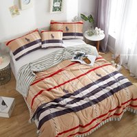 Wholesale comforters quilts bedspreads resale online - 100 Cotton Bedspread plaid print Throws Blanket summer thin Comforter stiching Duvet Quilt Filling