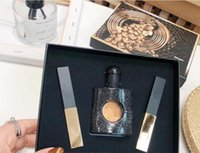 Wholesale tubes cosmetic resale online - 2019 Newest Arrival Brand Makeup Set Gold Tube Matte Lipstick Perfume in Make Up Kit Cosmetic with Gift Box