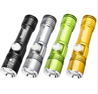 Wholesale bike zoom resale online - USB Inside Battery T6 Powerful LM Led Flashlight Portable mini Light Rechargeable Tactical LED Torches Zoom bike cycling Flashlight