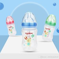 Wholesale infant cup feeding for sale - Group buy Anti Colic Infant Milk Cup Feeding Baby Bottles oz Months Wide Neck Breast like Soft Silicone Nipple Bpa Free Easy Clean