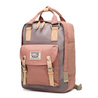 Wholesale campus pack resale online - Donuts Double Shoulder Packs Girls Backpacks High School Students Campus Oxford Canvas Bags New Travel Bags