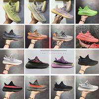 sapatos de grife sapatos de grife venda por atacado-Com Caixa Stock X Shoes Antlia Preto Rosa estática V2 tênis para Womens Kanye Mens Oeste Yeehu Yecheil Designer Loafers Trainers US5-13