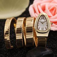 последние часы из стали оптовых-2018 latest fashion diamond snake female steel watch quartz watch west tiecheng movement stainless steel watchband