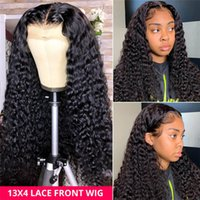 Wholesale burmese curly hair unprocessed for sale - Group buy 100 human hair Unprocessed Curly Virgin Hair Full Lace Wig Heave density Brazilian Human hair Lace front Wigs for Black Women
