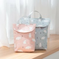 Baby Waterproof Zip Wet Dry Bag for Infant Cloth Diaper Nappy Pouch Reusable UK