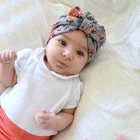 ingrosso piega i cappelli-Boemia, cotone, nodo, stampa, neonato, bambini, bambino, cappuccio, cappelli, arco, fasce, copricapo, capelli, accessori, bambino, turbante, cappelli, copricapo