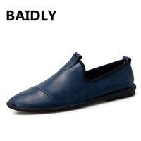 мужская обувь для катеров оптовых- Genuine Leather Men Loafers Men's Casual Shoes Leather Mocassim Masculino Breathable Slip on Boat Shoes Chaussures Hommes