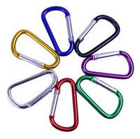 d form ringe großhandel-Karabiner Ring Schlüsselringe Dförmige Aluminiumlegierung Outdoor Sports Camp Snap Clip Haken Wandern Klettern Schlüsselring 1000 stücke OOA6919