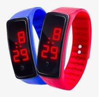 relógios de esporte venda por atacado-Nova Moda Esporte LED Relógios Candy Jelly homens mulheres Tela De Toque De Borracha De Silicone Digital Relógios Pulseira relógio de Pulso