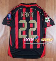 Wholesale red top jerseys for sale - Group buy Retro Ac Milan soccer jersey season Ac Home KAKA MALDINI SHEVCHENKO INZAGHI PIRLO Top quality Ac soccer shirts