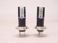erros de led da lâmpada h7 venda por atacado-H7 LED Farol CSP Seul Chip Lâmpadas Canbus Erro Livre Auto Lâmpadas de Condução Do Carro Fresco branco 6000 K 30000LM 50 W