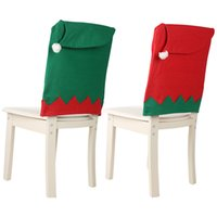 gran adorno de navidad al por mayor-Navidad sombrero grande Silla de casa cubren 47 * 63cm telas no tejidas Cena de Navidad Decoración cubierta de la silla de Navidad decoración del ornamento