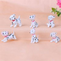Wholesale resin fairy statues for sale - Group buy Home Car Birthday Cake Decoration Spotted dog Figurine Miniature Decoration mini fairy garden animal statue resin craft