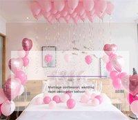 globos en forma de estrella al por mayor-Love U Foil Balloons Set 2019 Día de San Valentín Boda Suministros nupciales para fiestas Pastel de bodas Forma de estrella Globos Globos Mylar Decoraciones
