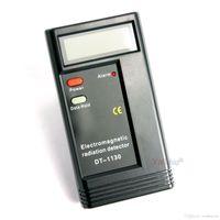 elektromagnetische strahlungsdosimeter großhandel-LCD Digital Radiation Tester Detectors EMF Meter Dosimeter Elektromagnetische Tester Detector DT1130 9V Batterie enthalten 60PCS / CTN