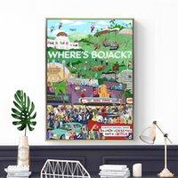 ingrosso sala tv arte pittura-Nuovo Bojack Horseman poster Serie TV Animation Mostra Poster e Pittura stampe di arte della parete tela di canapa per la camera dei bambini Home Decor