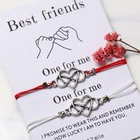 ingrosso corda amante dell'amore-SE YOU Forever Love Friendship Charm Bracciali per gli amanti della donna Uomini Wish Rope Red String Coppia Bracciale Best friend Jewelry