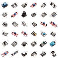 kit sensor para arduino al por mayor-Sensor Kit (módulo de contacto regalo) 37 EN 1 SENSOR DE KITS DE ALTA CALIDAD bricolaje módulo del tablero del kit del sistema Arduino cartón