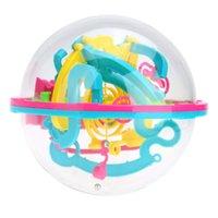 ingrosso esercizi palla palla-Gioco di equilibrio di palla 3D Sferica labirinto Intelletto Puzzle magico con 100 ostacoli giocattolo educativo esercita abilità pratiche