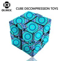 Wholesale fidget toys for children adhd for sale - Group buy Luxury Infinity Cube Edc Fidget Cube Adhd Anti Stress Relief Novelty Fidget Toy For Children Adults Decompression Toys Ems Dhl Free