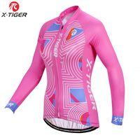 desgaste de bicicleta para mulher venda por atacado-X-TIGER Pro Inverno térmica velo Ciclismo Jerseys Roupa de bicicleta Roupa Ciclismo Mulher Bike Wear Uniform Roupa Quente Maillot