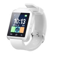 huawei android бесплатная доставка оптовых-Свободный Корабль Bluetooth Smart U8 Часы Наручные Часы для Samsung S8, S9, S10 край Примечание 8, 9 Huawei Android Phone