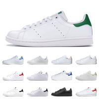 erkekler beyaz düz ayakkabılar toptan satış-Adidas stan smith shoes Ucuz stan ayakkabı moda smith Marka En kaliteli mens bayan yeni rahat deri spor sneakers koşu ayakkabı boyutu eur 36-45