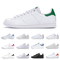 Wholesale mens shoe casual for sale - Group buy New smith men women flats sneakers green black white navy red rainbow stan mens fashion leather shoe outdoor casual walking size